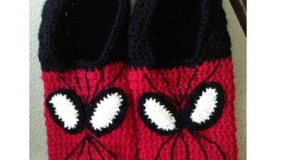 Örümcek Adam Görünümünde Çocuk Patik Yapımı. 8 yaş