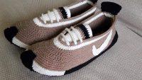 Keçe Tabanlı Spor Ayakkabı Görünümünde Ev Babeti Tarifi. 38 numara