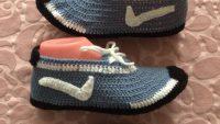 Spor Ayakkabı Görünümünde Ev Babeti Nasıl Örülür?  38 numara