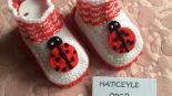 Uğur Böceği Süslemeli Çocuk Patiği Yapımı. 1 .2 Yaş