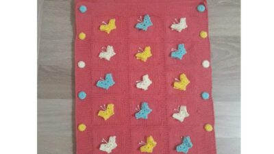 Kelebek Süslemeli Bebek Uyku Tulumu / Uyku Battaniye Yapımı.