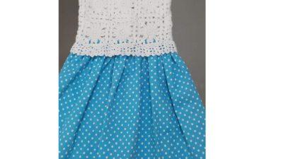 Tığ İşi Motif Olarak Örülen Kolay Çocuk Elbise Tarifi. 2. 3 Yaş