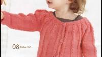 Ajurlu Kız Çocuk Hırkası