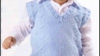 Baklava Desenli Mavi Bebek Süveteri