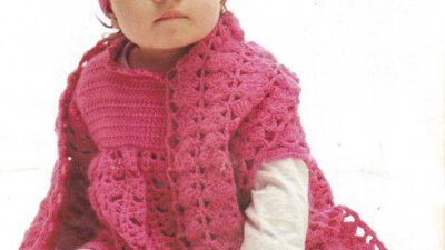 Örgü Bebek Takımı Bere Atkı Elbise Modeli