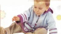 Erkek Çocuk Kapişonlu Hırka Örneği