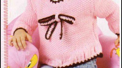 Fiyonklu Kız Çocuk Bluzu