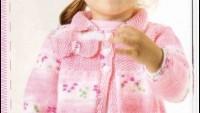 Fiyonklu Kız Çocuk Hırkası