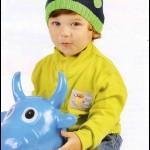 Lacivert-Yeşil Çocuk Beresi Yapılışı