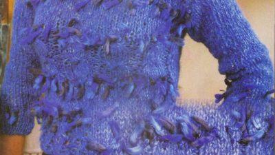 Mavi Bayan Kazağı Örneği