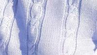 Mavi Düz Saç Örgüsü Bayan Kazağı Örneği