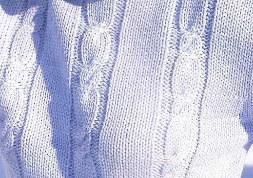 Mavi Düz Saç Örgüsü Bayan Kazağı Örneği 96