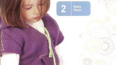 Kız Çocuk Mor Süveter Modeli
