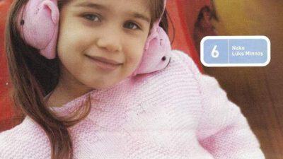Pembe Kalpli Kız Çocuk Kazağı Modeli