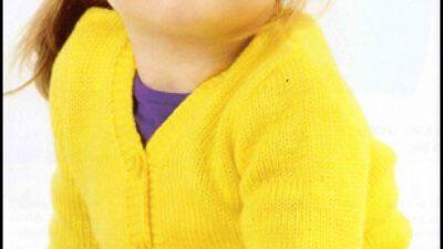 Sarı Çocuk Hırkası Yapılışı