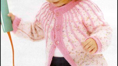 Tek Parça Örülen Pembe Kız Çocuk Hırkası