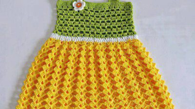 Yazlık Örgü Kız Çocuğu Elbisesi Tarifi