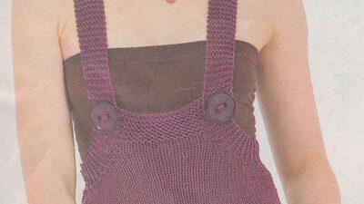 Askılı Düğmeli Mini Elbise
