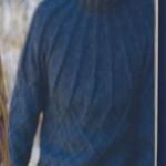 Baklava Dilimli Mavi Erkek Kazağı