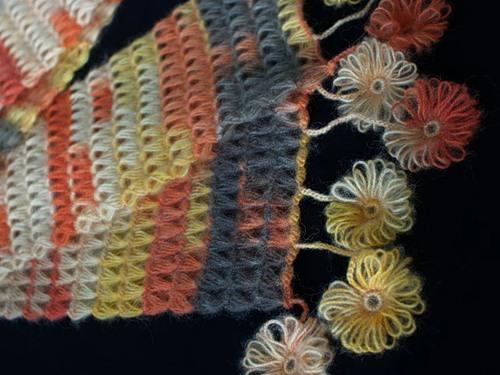 cetvelle çiçek örgüsü