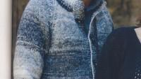 Düğmeli Ebruli Erkek Hırka