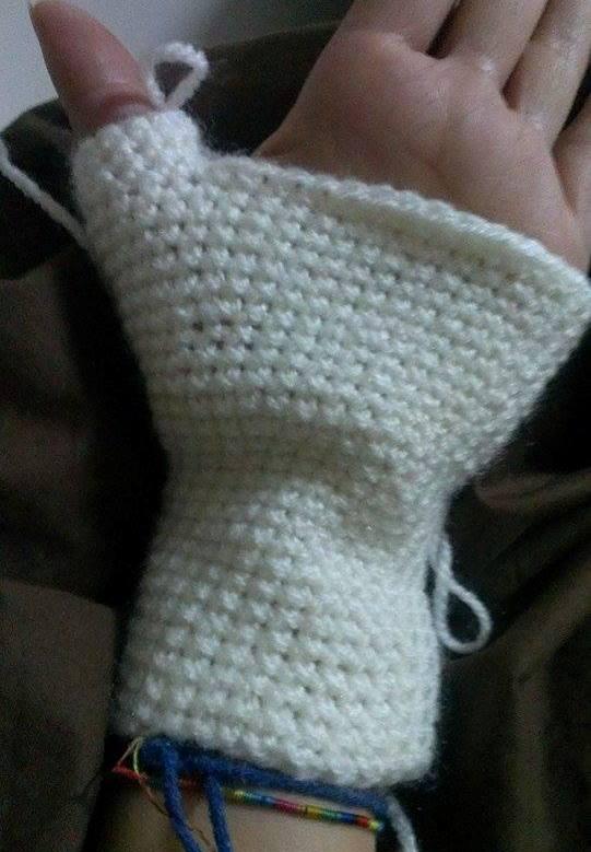 eldivenin parmak kısmı