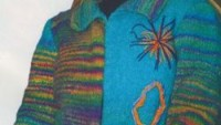 Renkli Boğazlı Kazak ve Örgü Hırka