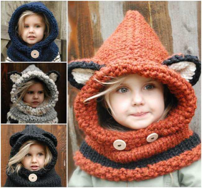 harika örgü kulaklı şapkalar
