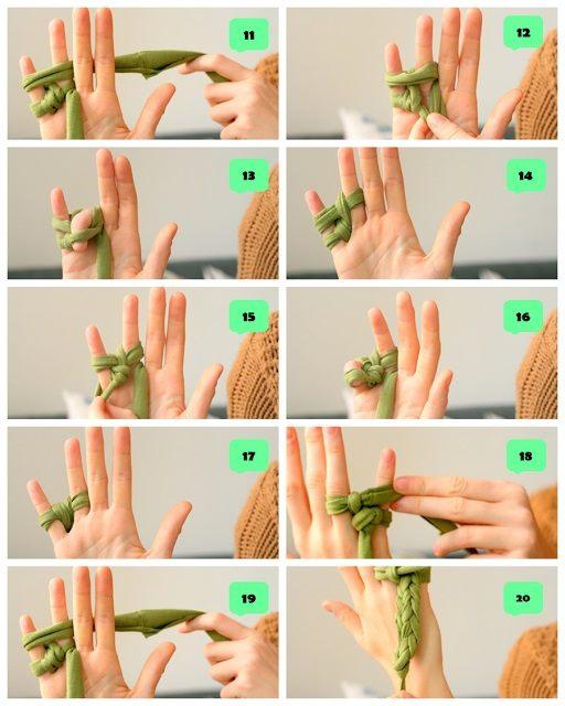 iki parmak ile parmak örgü 2