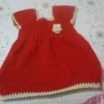 Kırmızı Örgü Elbise Örneği (anlatımlı )