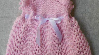 Kız Bebek Örgü Elbise Tarifi