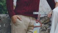 Kapşonlu Bordo Renkli Kazak