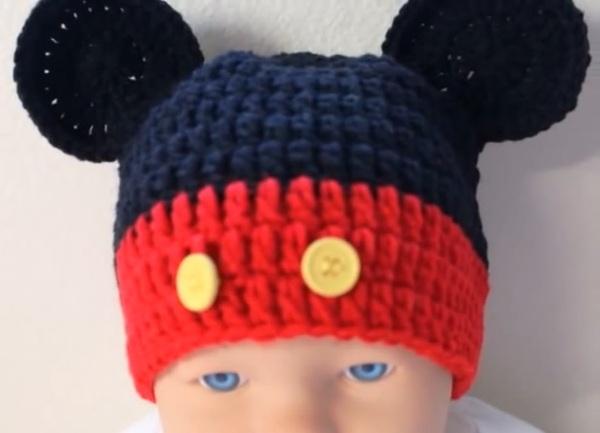 mickey örgü şapka