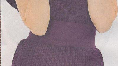 Mor Renkli Sıfır Kollu Mini Elbise