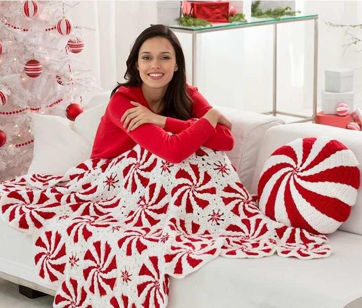 motifli kırmızı beyaz battaniye