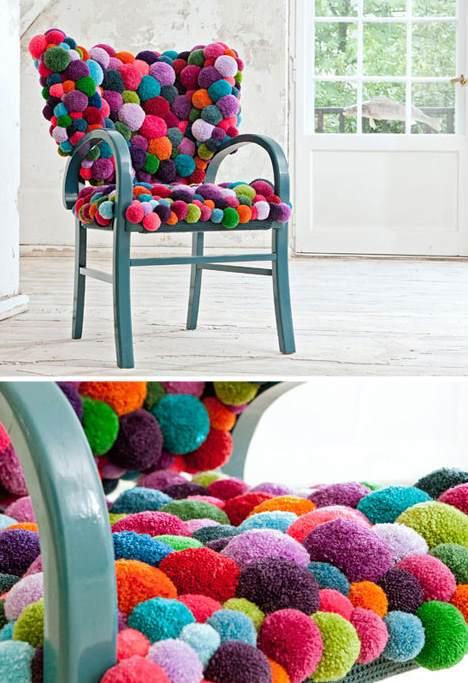 pompon sandalye