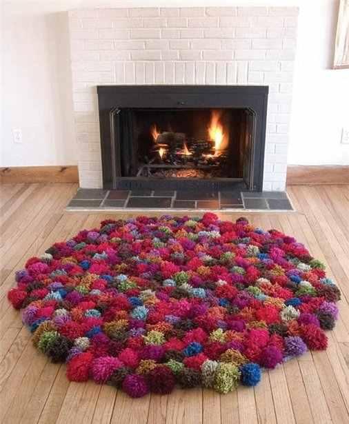 ponponlu halı yapımı
