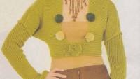 Ponponlu Uzun Kollu Yeşil Bolero