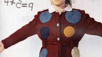 Puantiye İşlemeli Ceket Modeli