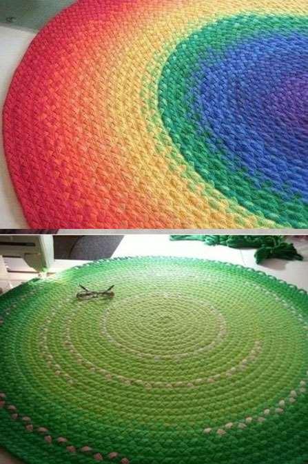 rengarenk kilim ve paspaslar