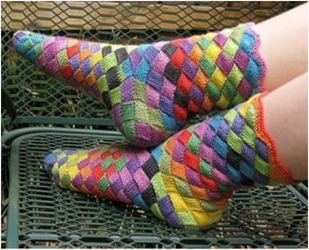 renkli çorap