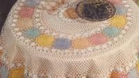 Renkli Fiskos Masa Örtüsü