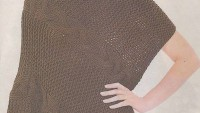 Saç Örgülü Kahverengi Panço
