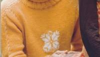 Sarı Renkli Boğazlı Erkek Kazağı