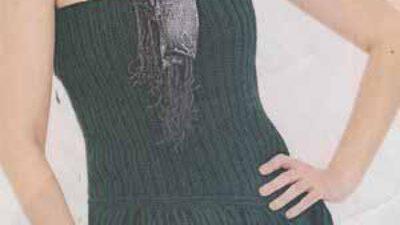 Straplez Örgü Elbise