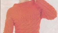 Turuncu Renkli Kabartmalı Kazak