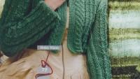 Uzun Kollu Yeşil Bolero